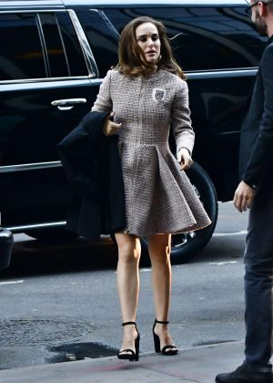 Natalie Portman in Mini Dress out in New York City