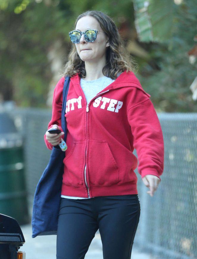 Natalie Portman in Tights at the park in Los Feliz