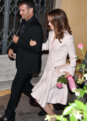 Natalie Portman - Leaving a restaurant in Cannes