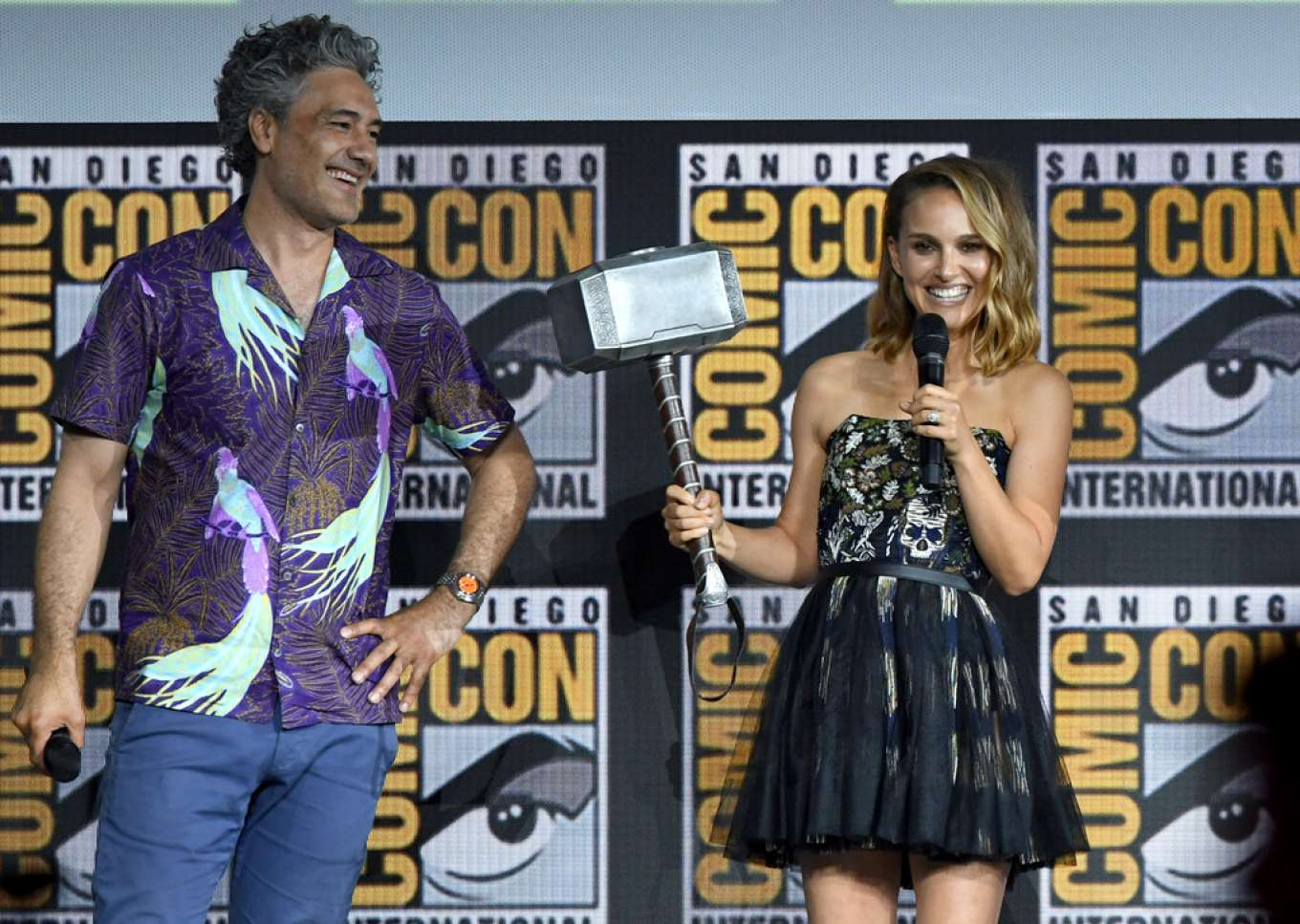 Natalie Portman 2019 : Natalie Portman – Marvel Panel at Comic Con San Diego 2019-02