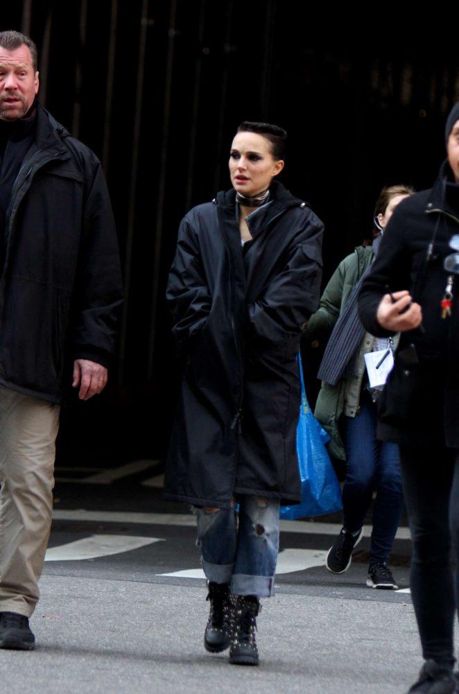 Natalie Portman on the 'Vox Lux' Set in Manhattan