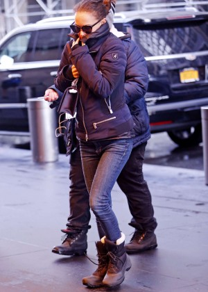 Natalie Portman in Jeans out in NYC