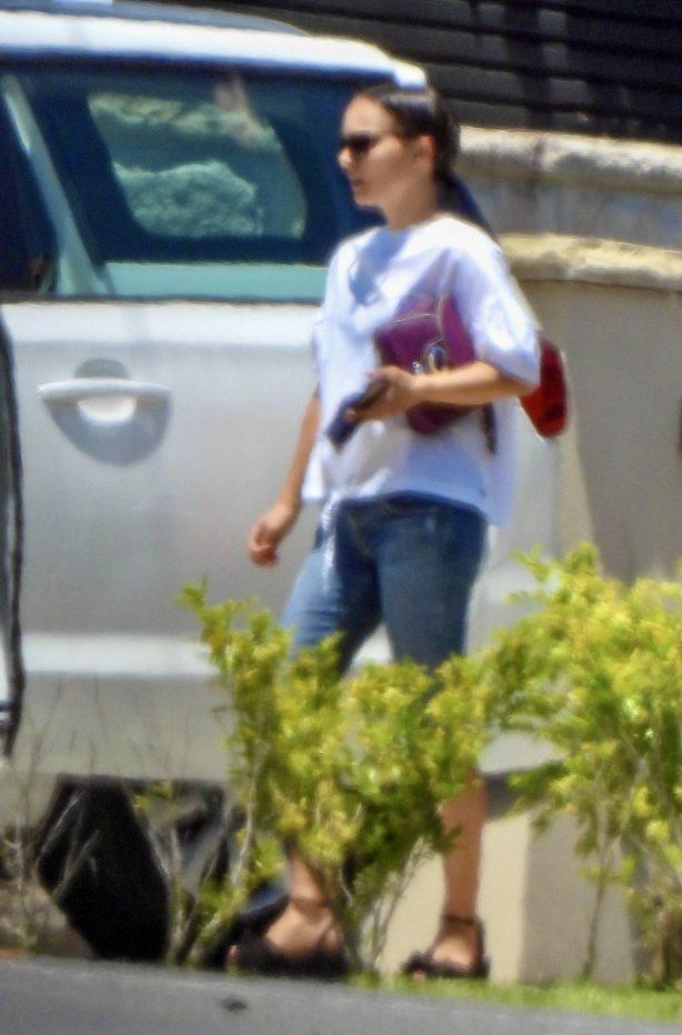 Natalie Portman - Seen on her way to Fox Studios