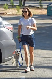Natalie Portman - Takes her dog for walk in Los Angeles
