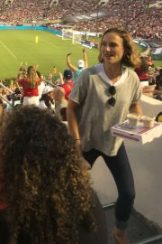 Natalie Portman - USA and Ireland for equal pay for women exhibition match in Pasaden