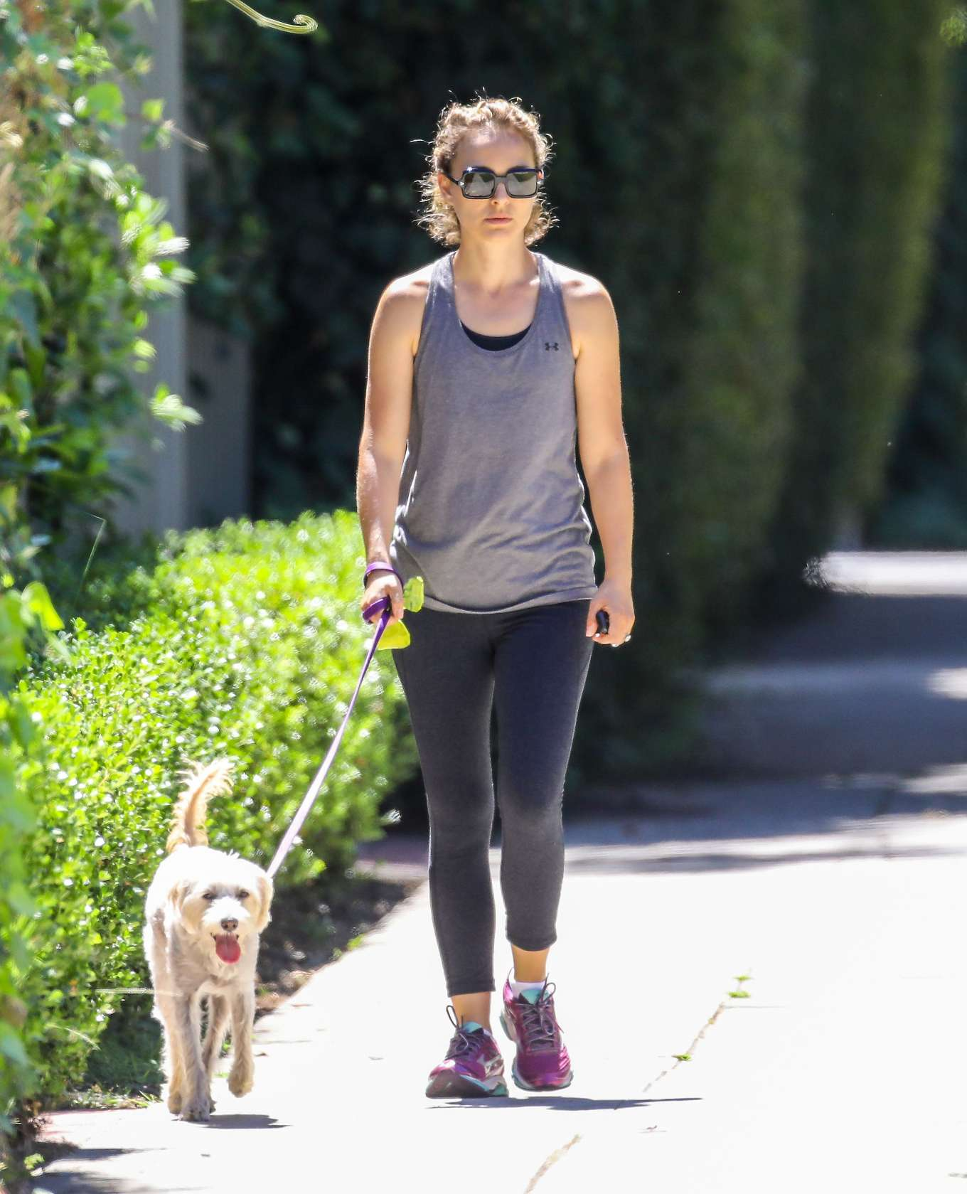 Natalie Portman - With her Charlie out in Los Angeles