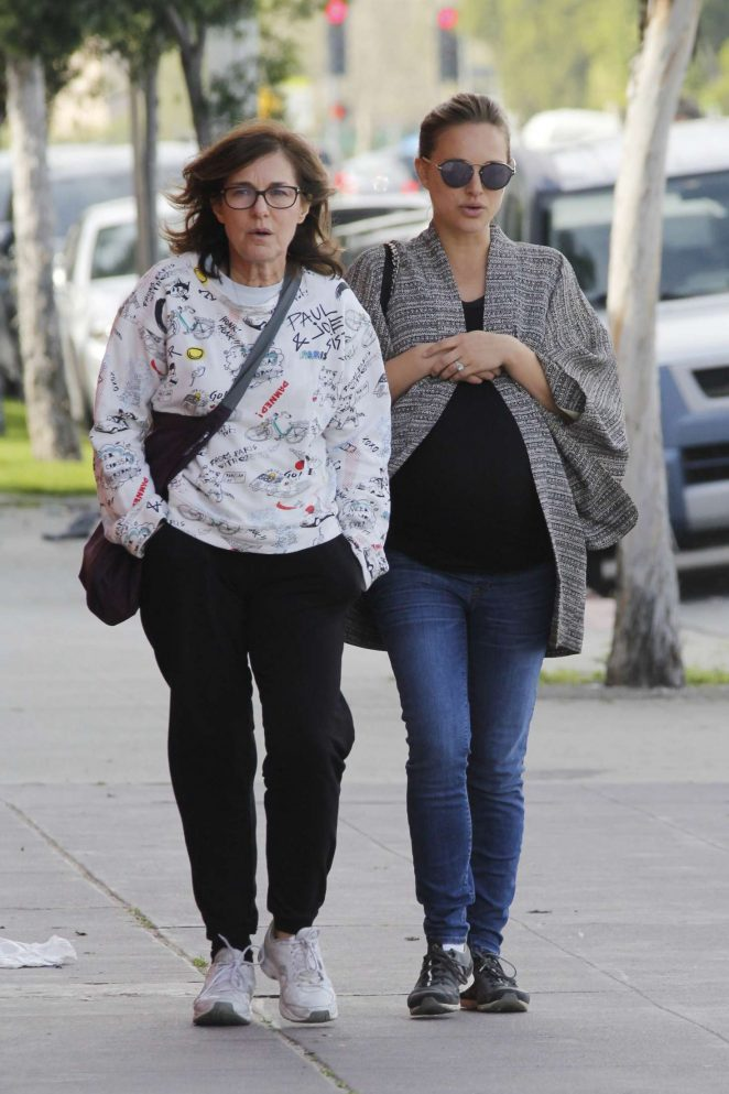 Natalie Portman with her mother Shelley out in Silverlake