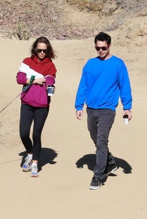 Natalie Portman - With Max Minghella hike candids in Los Angeles