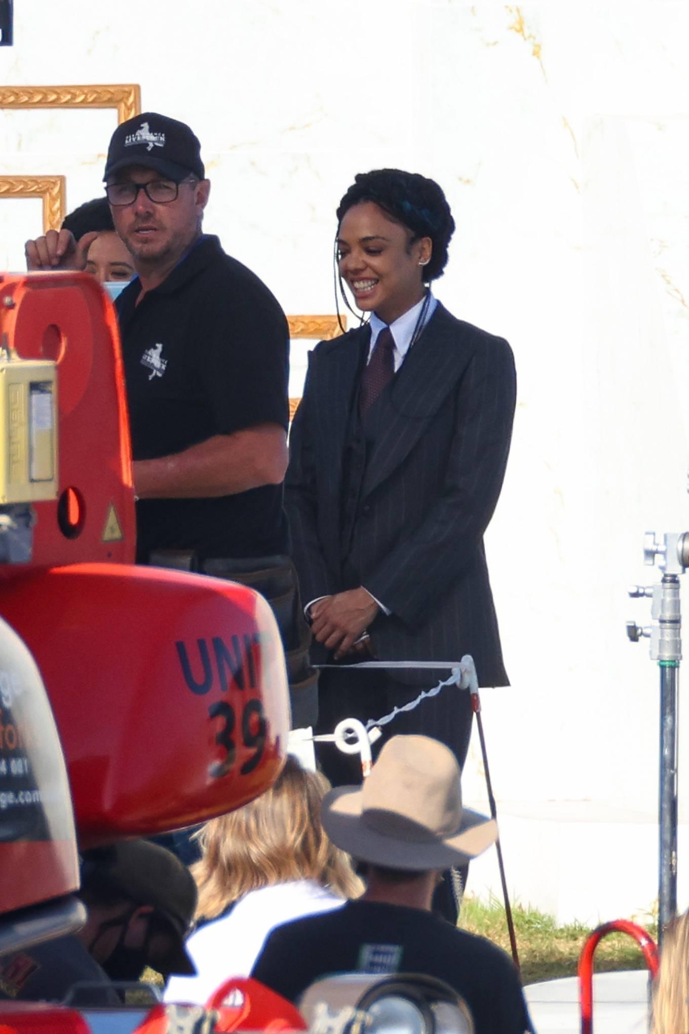 Natalie Portman 2021 : Natalie Portman – With Tessa Thompson filming in Sydney-09