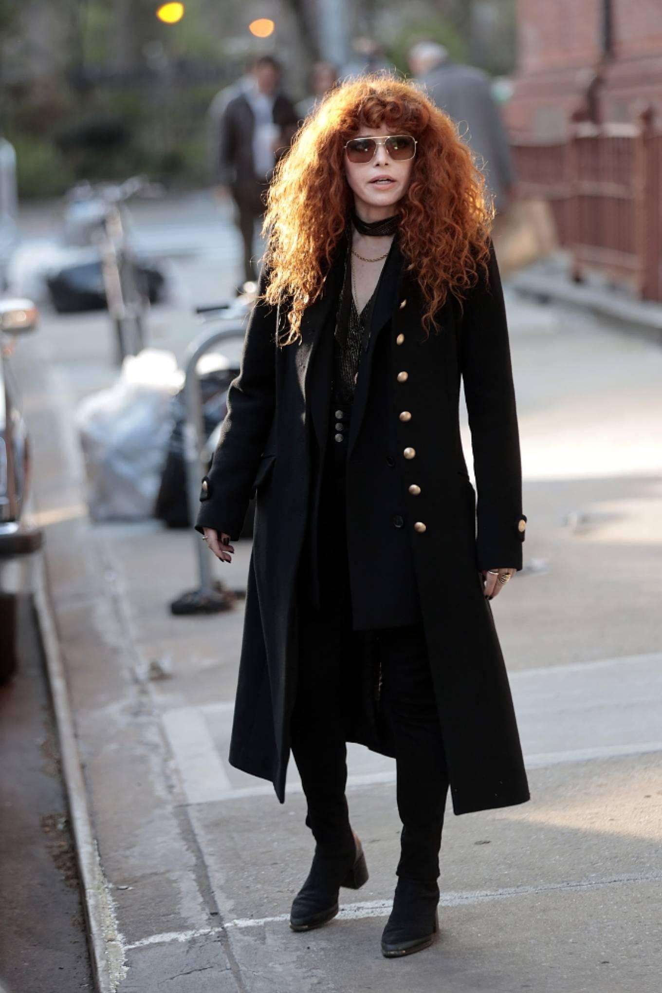 Natasha Lyonne - Filming 'Russian Doll' in New York