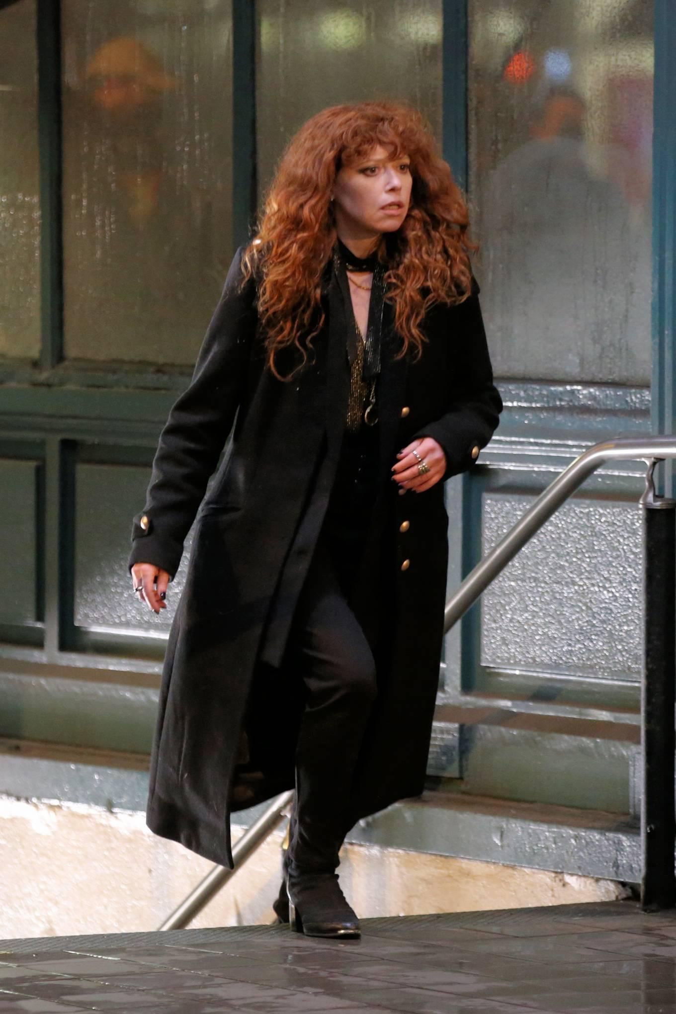 Natasha Lyonne - 'Russian Doll' night scene set at the Astor Place in New York