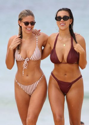 Natasha Oakley and Devin Brugman in Bikini on Bondi Beach in Sydney