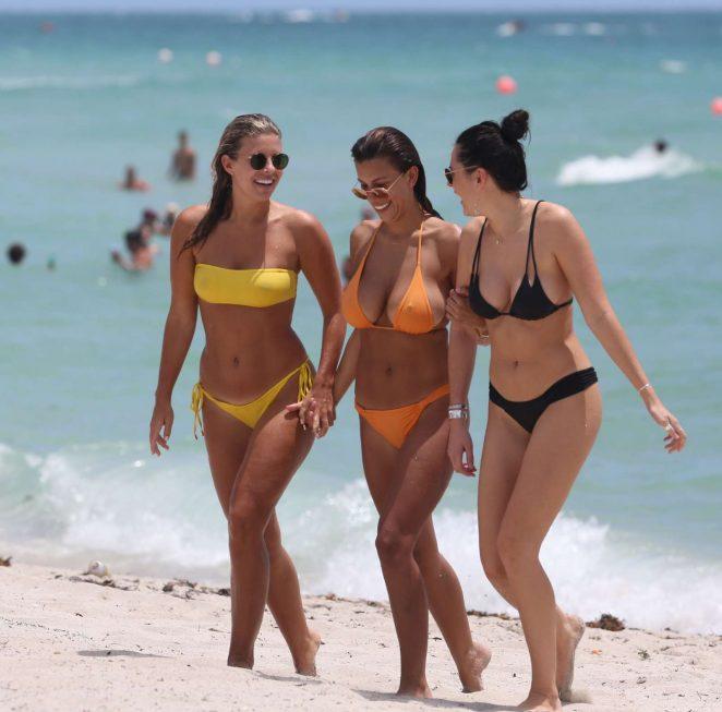 Natasha Oakley and Devin Brugman in Bikini on Miami Beach