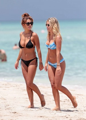 Natasha Oakley and Devin Brugman in Bikini in Miami
