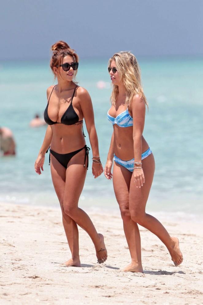 Natasha Oakley and Devin Brugman – Wearing Bikini in Miami