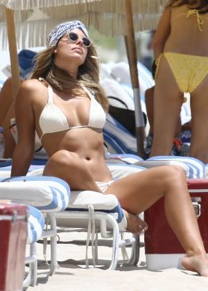 Natasha Oakley in White Bikini -01