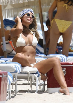 Natasha Oakley in White Bikini -02
