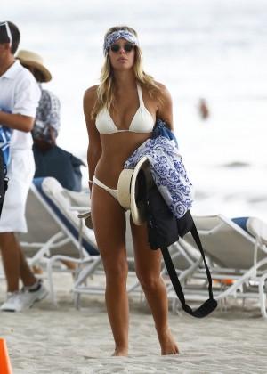 Natasha Oakley in White Bikini -07