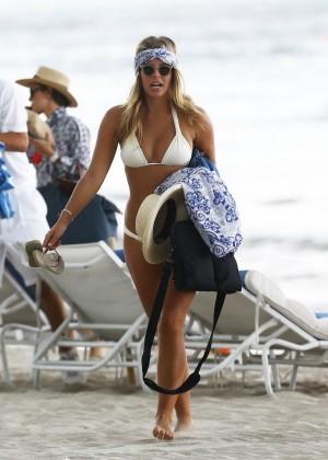 Natasha Oakley in White Bikini -09