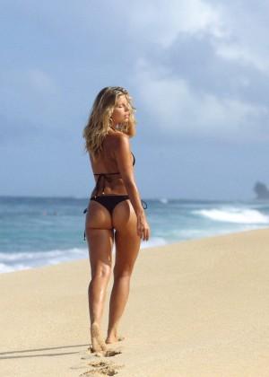 Natasha Oakley in Little Black Bikini -01