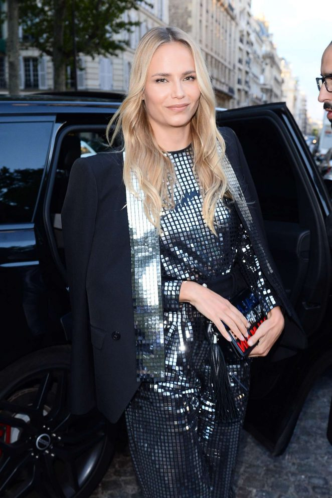 Natasha Poly – Arriving at Vogue Dinner Party in Paris