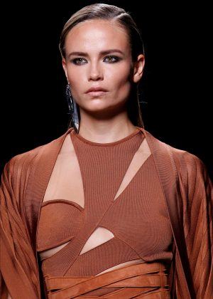 Natasha Poly - Balmain Fashion Show SS17 in Paris