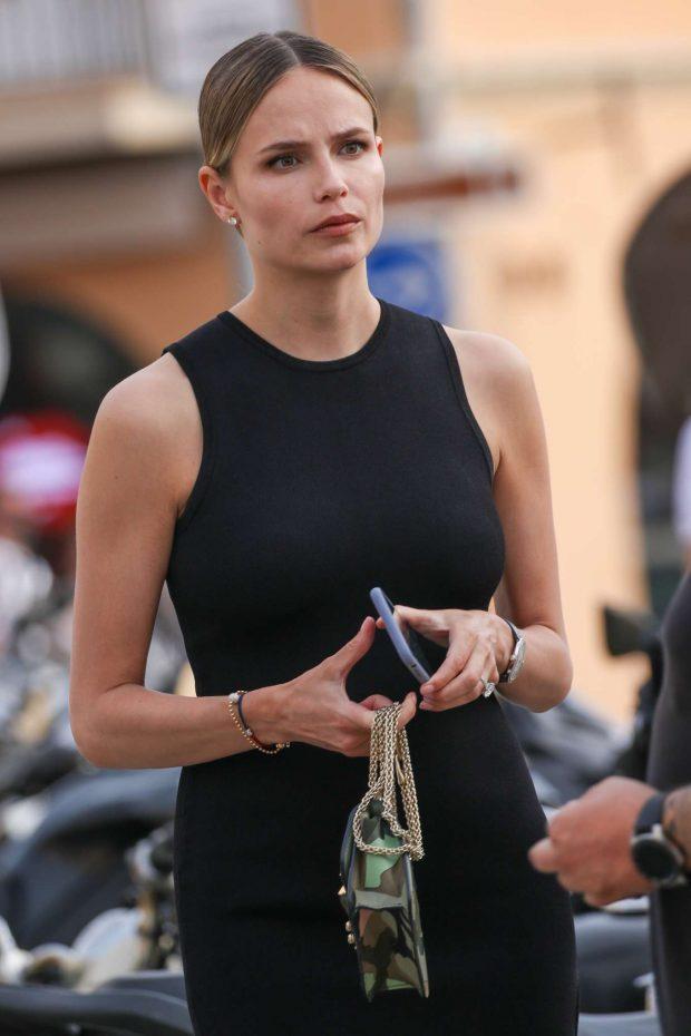 Natasha Poly in Black Mini Dress-12