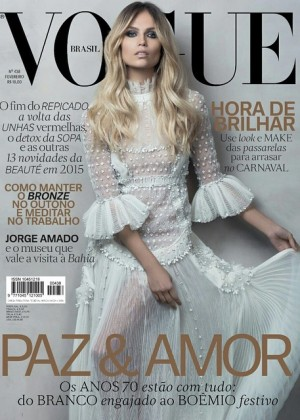 Natasha Poly - Vogue Brazil Cover (February 2015)