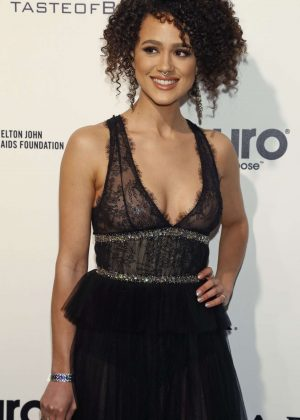 Nathalie Emmanuel - 2017 Elton John AIDS Foundation's Oscar Viewing Party in West Hollywood