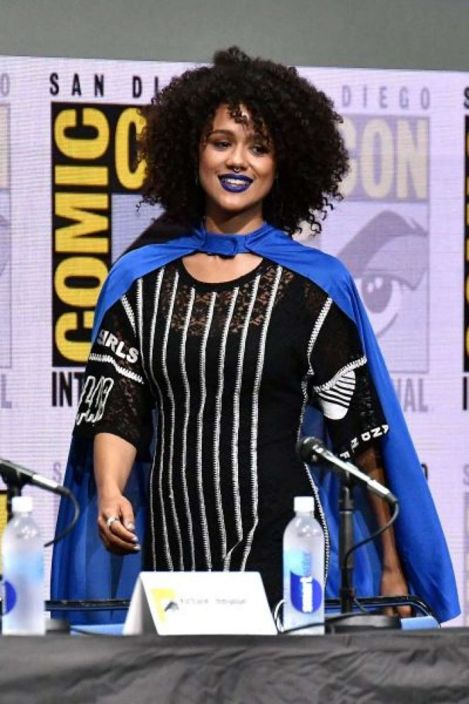 Nathalie Emmanuel at 2017 Comic-Con in San Diego