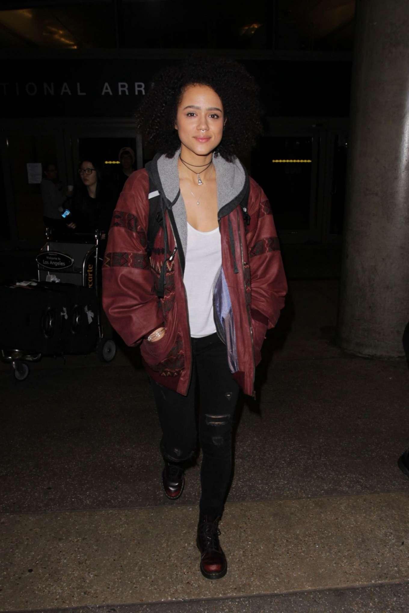 Nathalie Emmanuel 2017 : Nathalie Emmanuel at Los Angeles International Airport -03