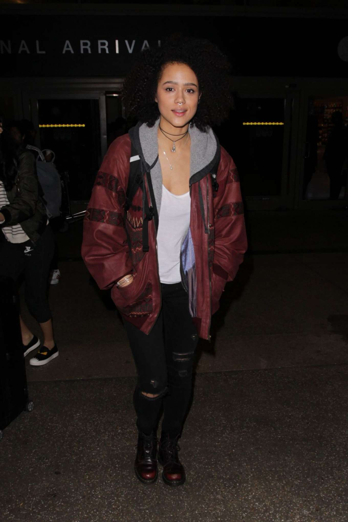 Nathalie Emmanuel 2017 : Nathalie Emmanuel at Los Angeles International Airport -04