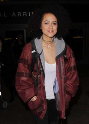 Nathalie Emmanuel at Los Angeles International Airport in LA