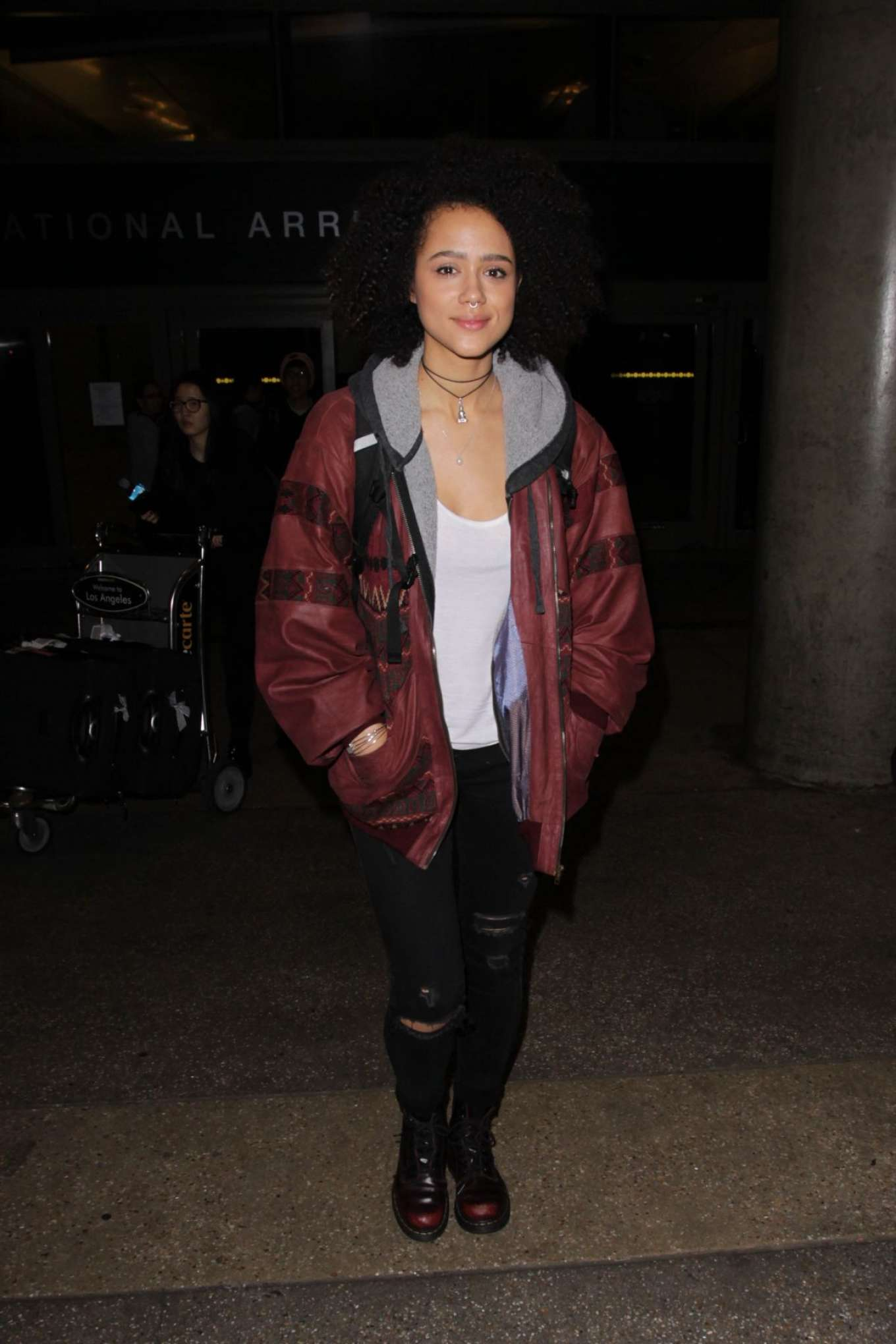 Nathalie Emmanuel 2017 : Nathalie Emmanuel at Los Angeles International Airport -11