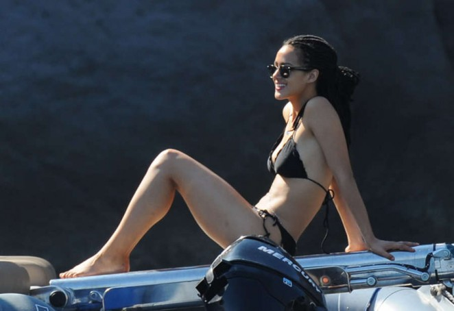 Nathalie Emmanuel In Black Bikini X on disable