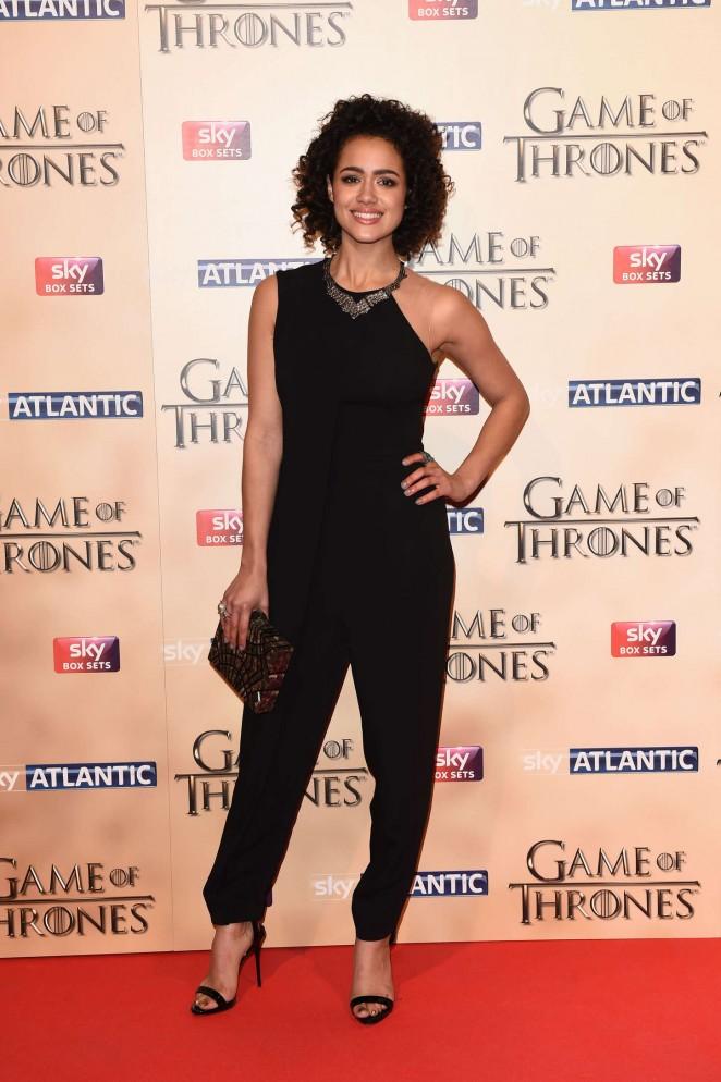 Nathalie Emmanuel - 'Game of Thrones: Season Five' World Premiere in London