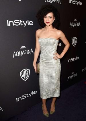 Nathalie Emmanuel - InStyle and Warner Bros 2016 Golden Globe Awards Post-Party in Beverly Hills