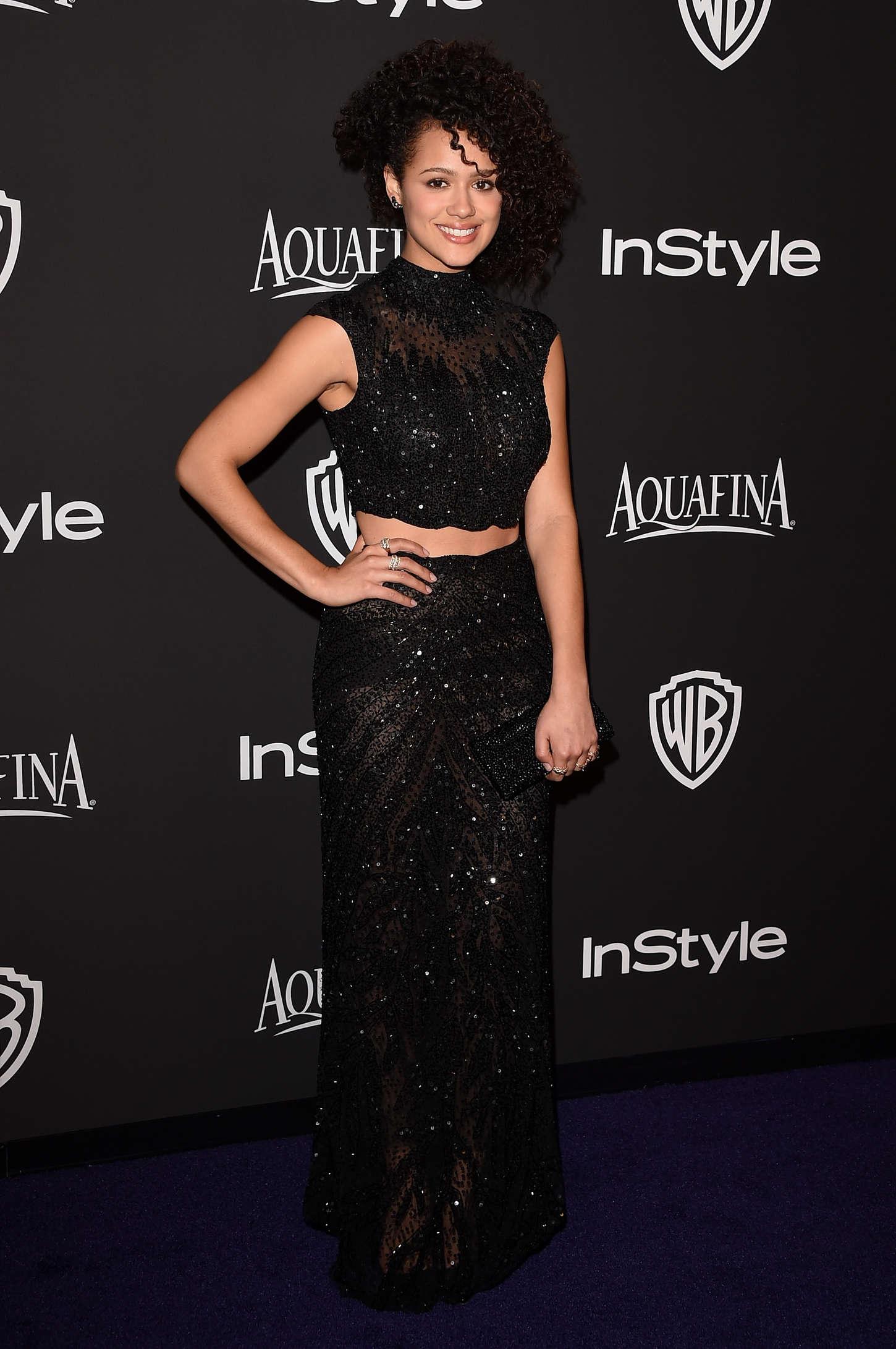 Nathalie Emmanuel - InStyle And Warner Bros Golden Globes Party 2015 in Beverly Hills