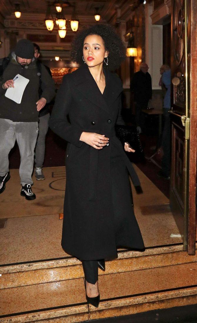 Nathalie Emmanuel - Leaving 'La Boheme' VIP press night in London