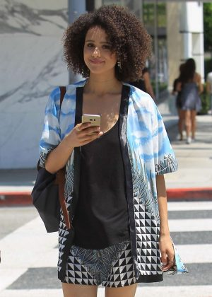 Nathalie Emmanuel Out in Beverly Hills