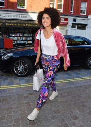 Nathalie Emmanuel out in London