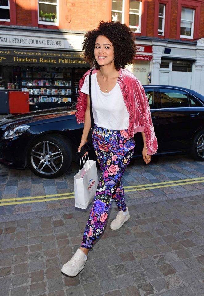 Nathalie Emmanuel out in London