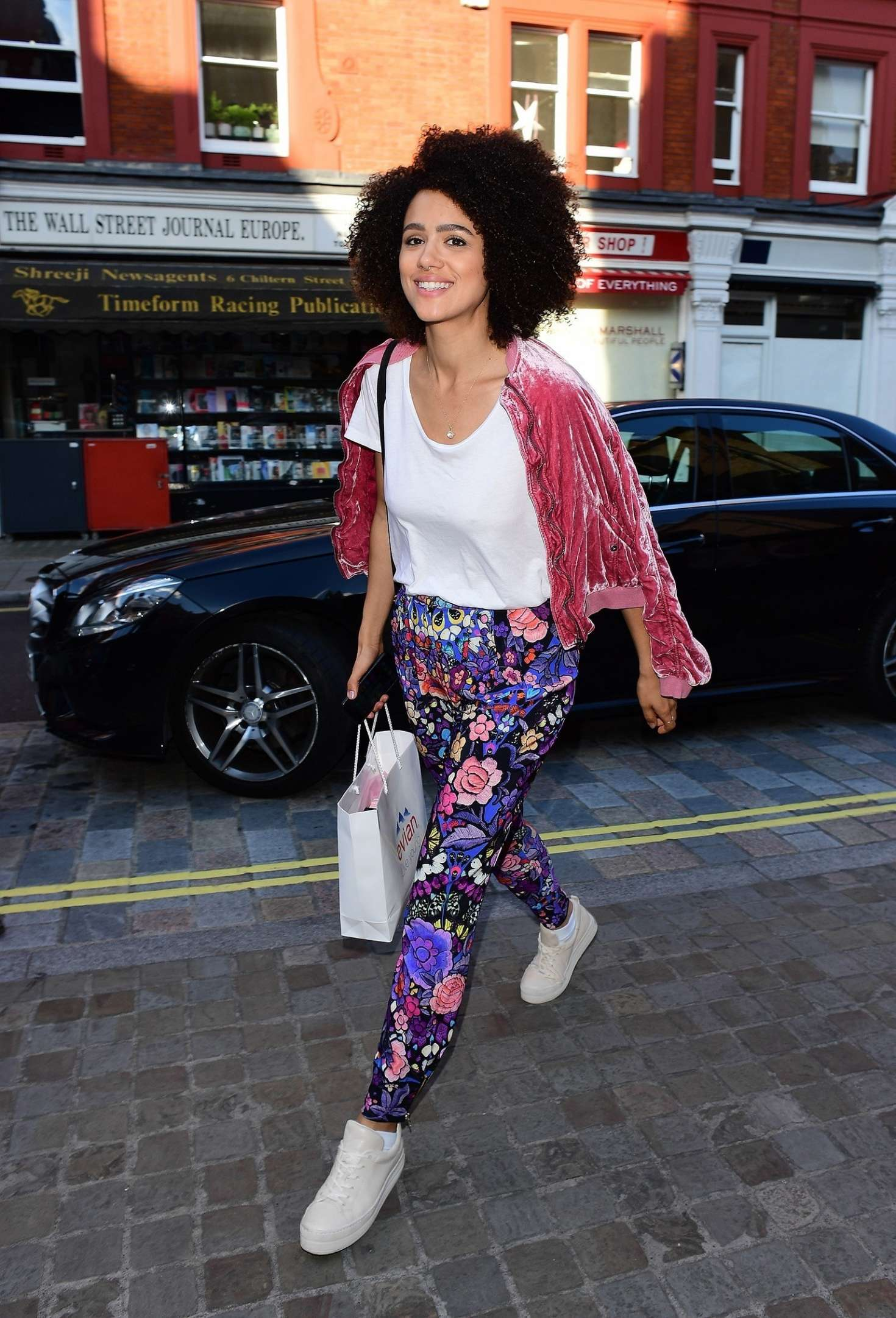 Nathalie Emmanuel 2017 : Nathalie Emmanuel out in London -08