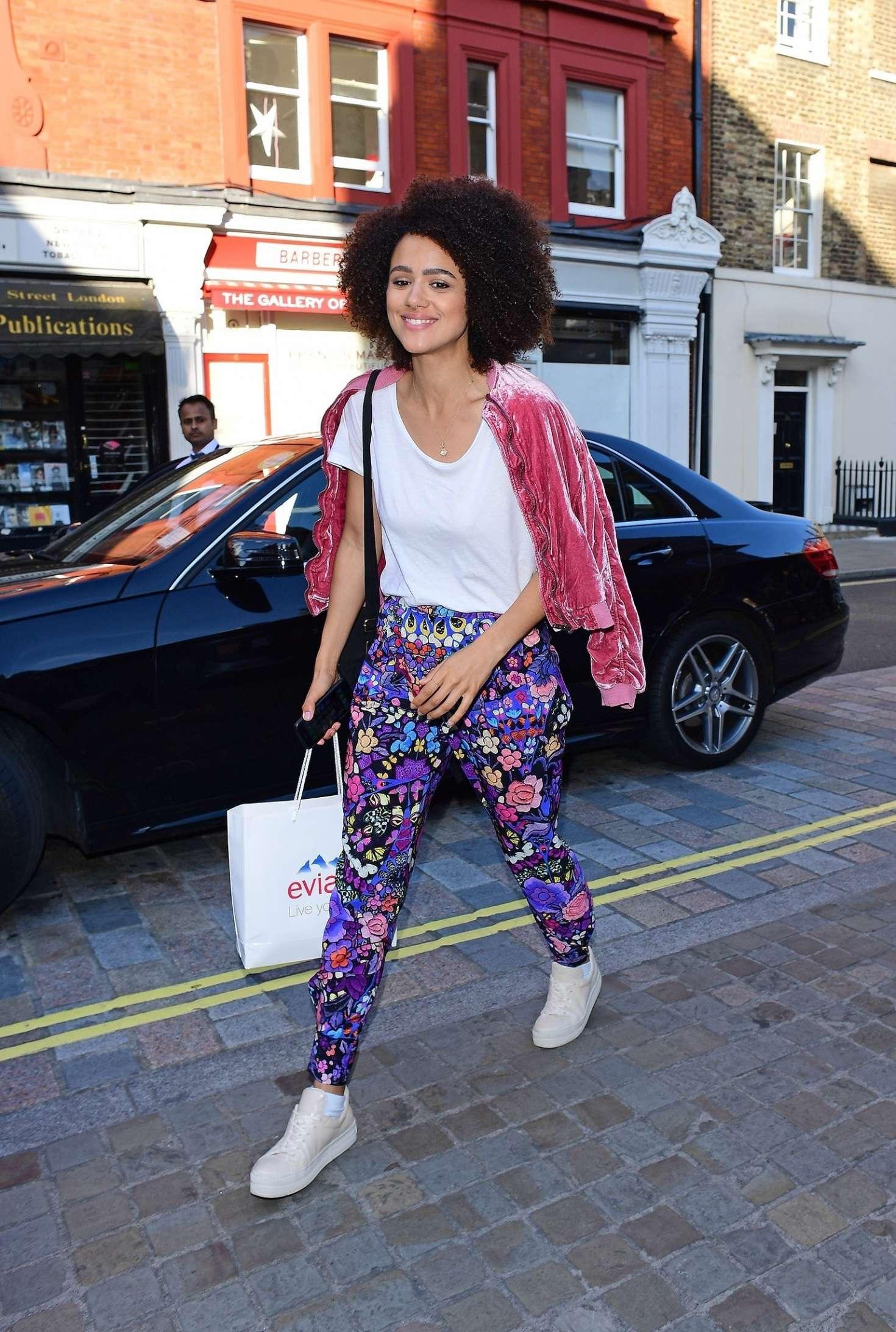 Nathalie Emmanuel 2017 : Nathalie Emmanuel out in London -09