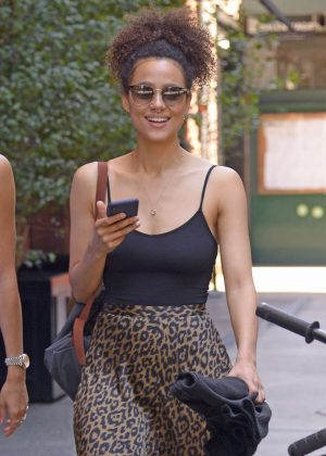 Nathalie Emmanuel - Out in New York City