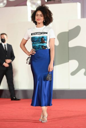 Nathalie Emmanuel 'Revenge Room' premiere - Red carpet at 2020 Venice Film Festival