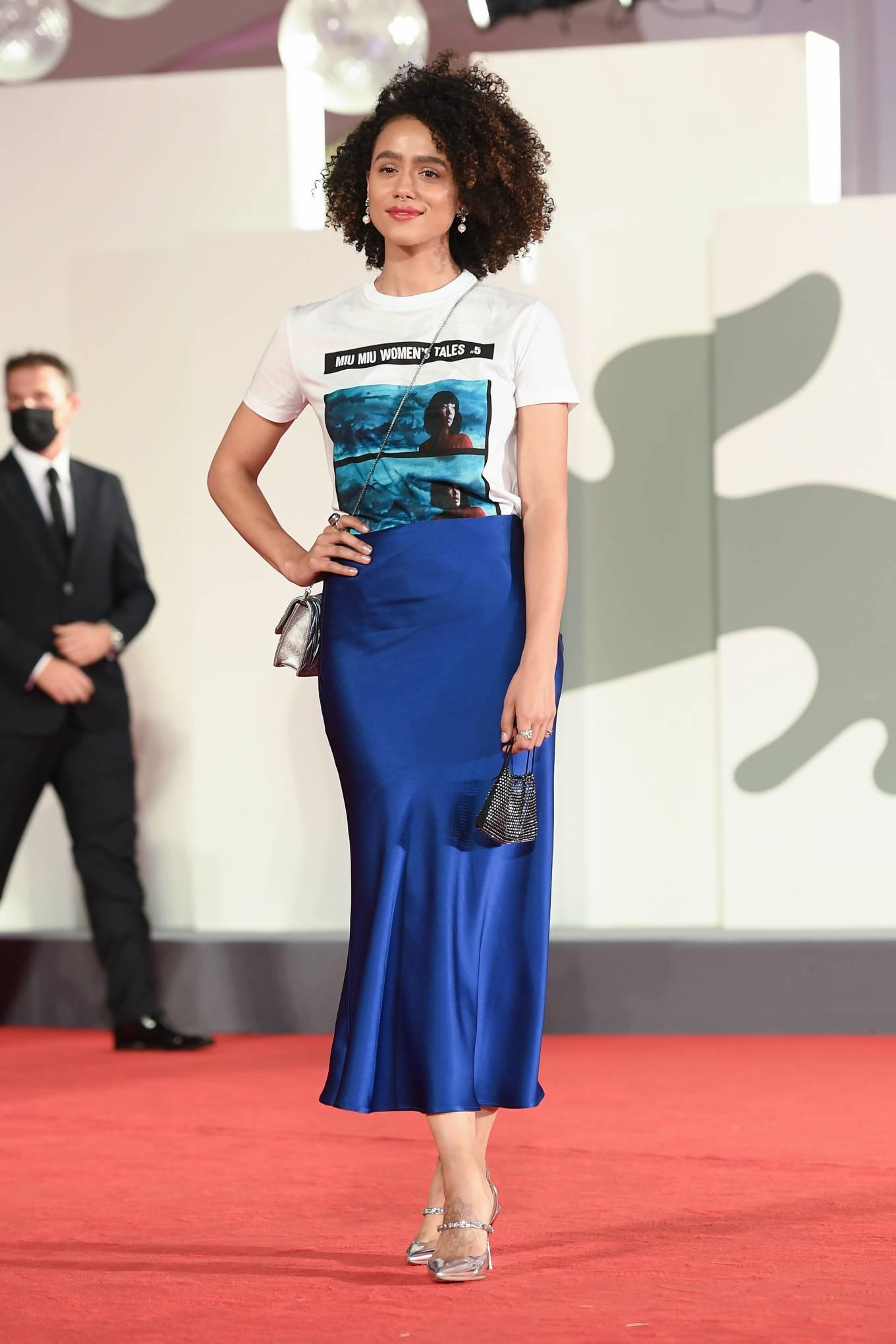 Nathalie Emmanuel 'Revenge Room' premiere - Red carpet at 2020 Venice Film Festival