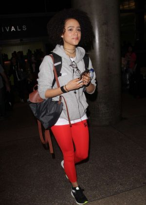 Nathalie Emmanuel - Seen at LAX airport in Los Angeles