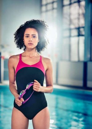 Nathalie Emmanuel - Speedos 'Make It Wet' Campaign 2017