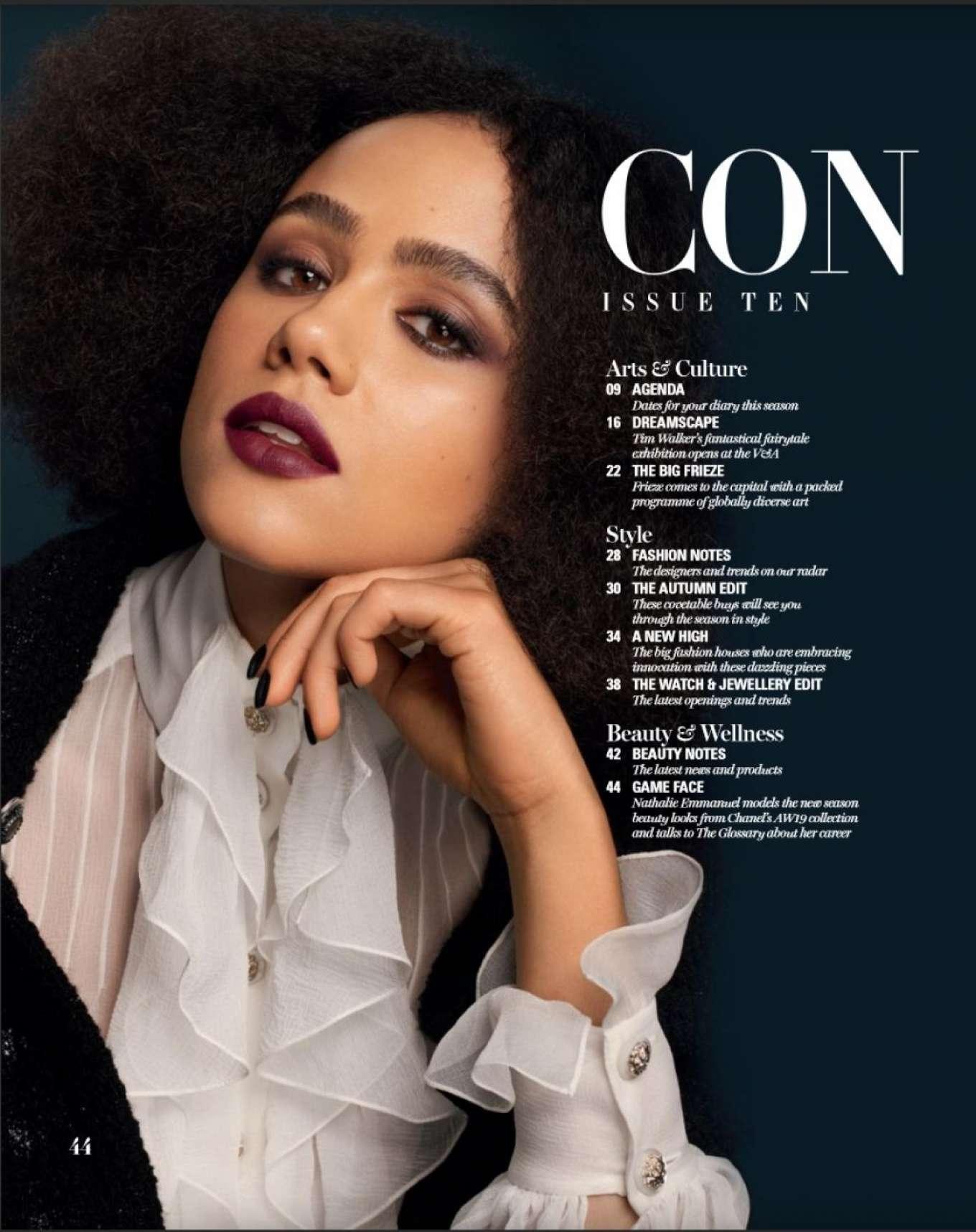 Nathalie Emmanuel - The Glossary x Chanel Magazine (November 2019)